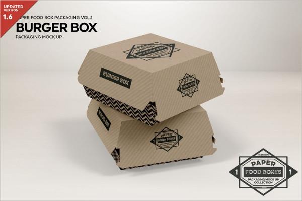 Burger Box Packaging MockUp