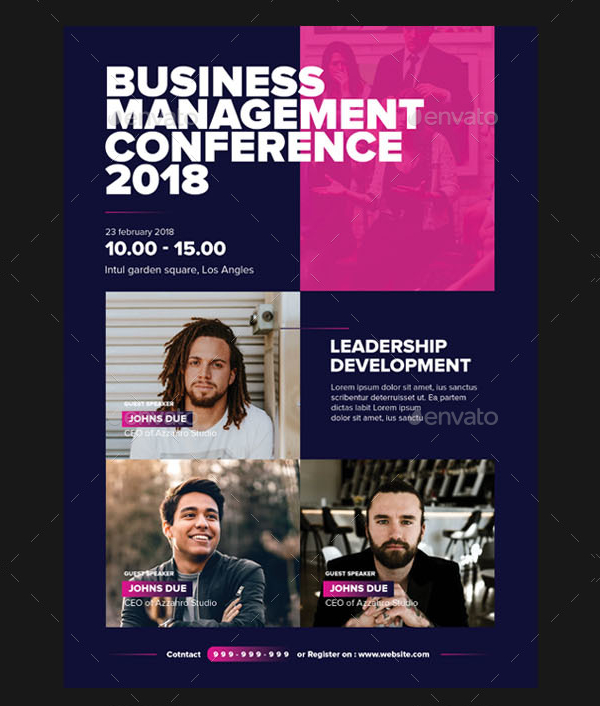 Business Conference Design Flyer Template
