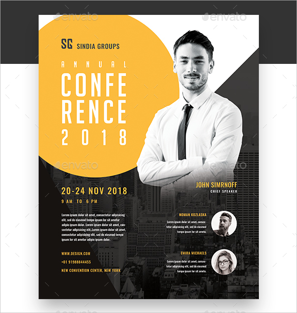 19  business conference flyer templates