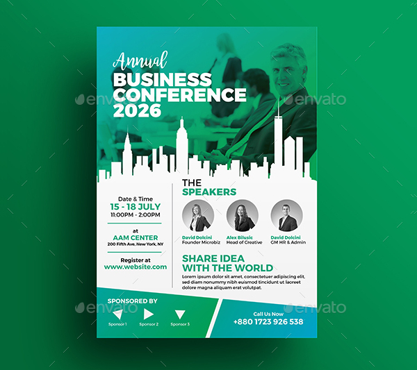 Business Conference Marketing Flyer