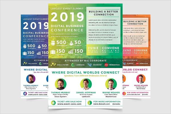 Business Digital Conferences Event Flyer