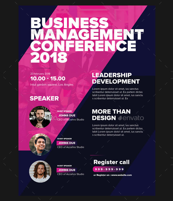 19 business conference flyer templates free premium psd download