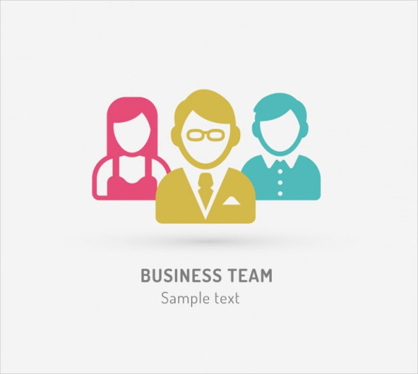 Business Team Free Vector Logo Template