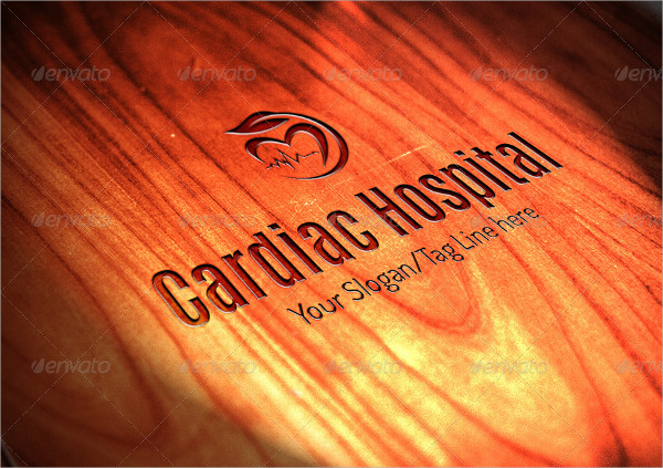 Hospital Cardiac Logo Design Templates