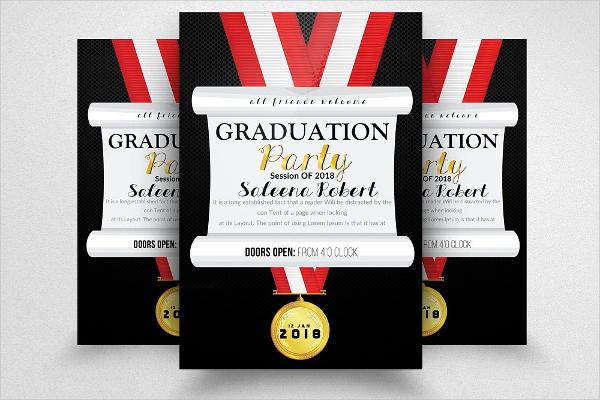 Chalkboard Graduation Invitation Design