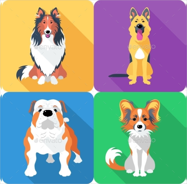 Cheerful Dog Icon Template