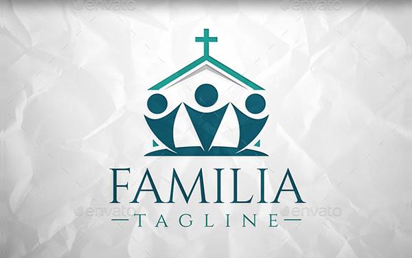 Church Family Design Logo