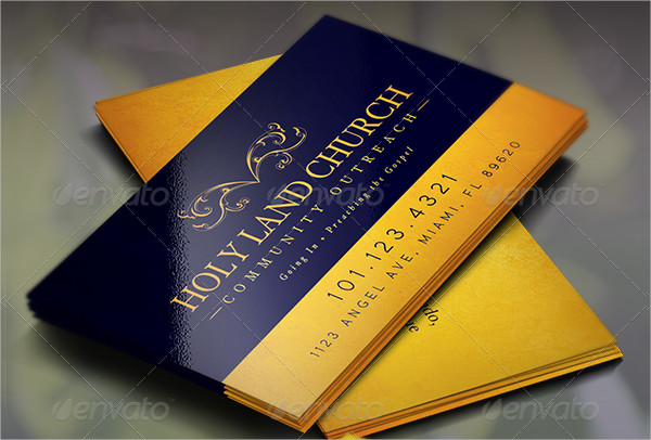 23  church business card templates