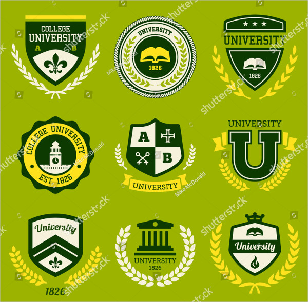 Classic College Teams Logo Template