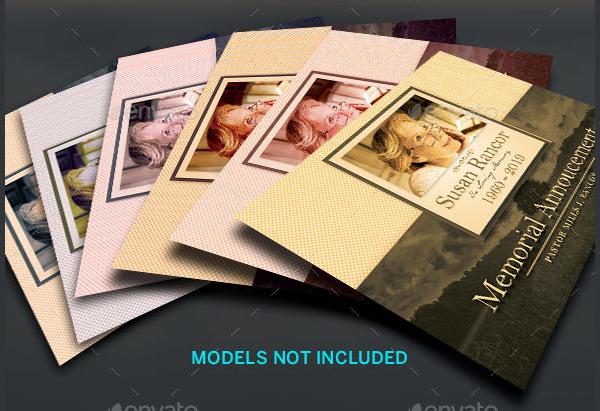 Classsic Funeral Memorial Card Template