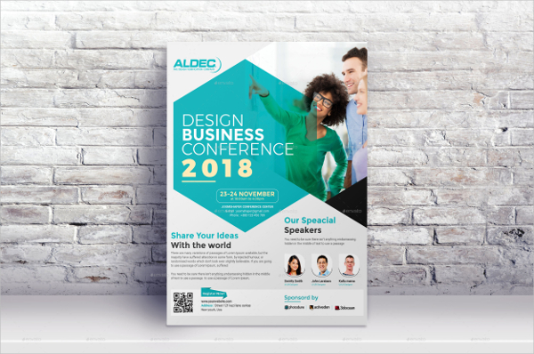 Clean Business Conference Flyer Template