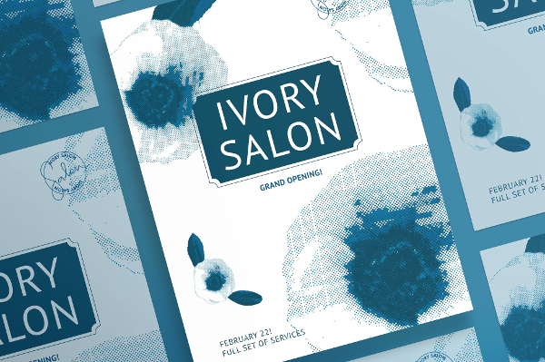 Clean Ivory Salon Posters