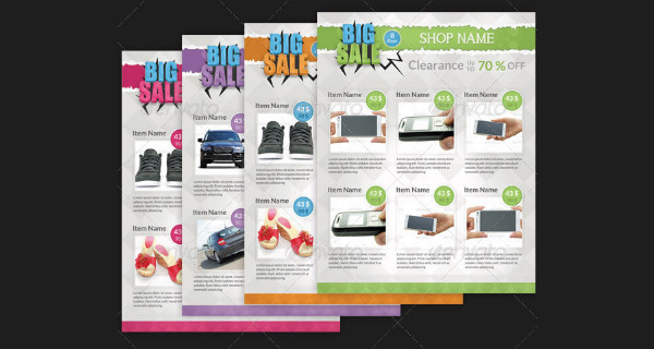 Clearance Big Sale Flyer Templates