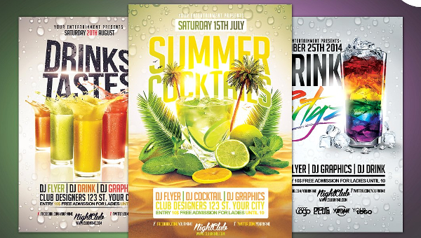 25  cocktail flyer templates