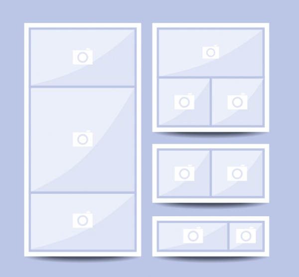 Free Vector Collage Picture Template