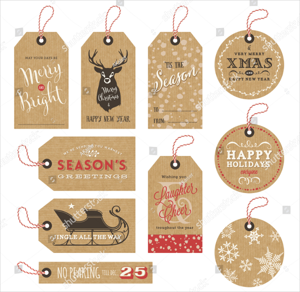 Collection Of Paper Gift Tag Template