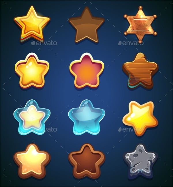 Collection Star Icon In Different Style