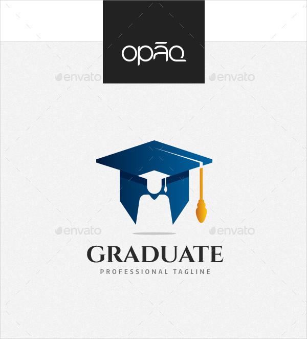 College Graduation Mortarboard Logo Template