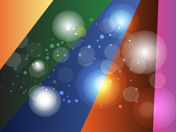 Colored Rays Circles Background Free
