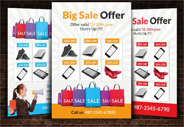 Colorful Big Sale Offer Flyers Template