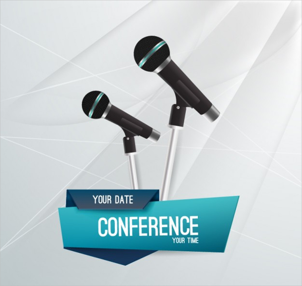 Business Conference Flyer Template Free Vector