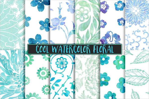 Cool Watercolor Floral Vintage Backgrounds