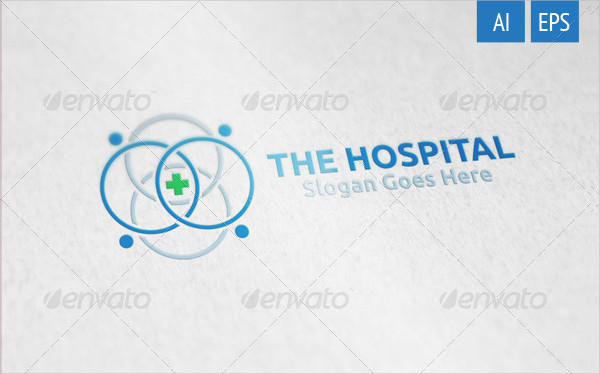 Corporate Hospital Logo Design Template