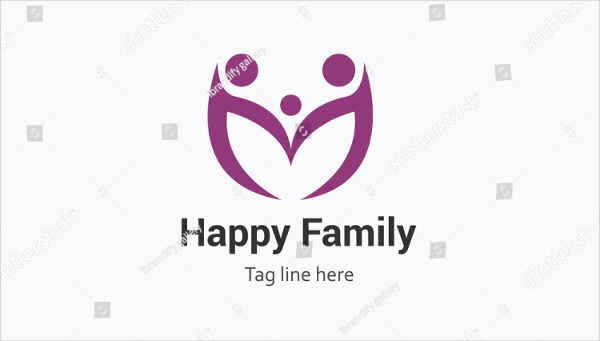 Creative Happy Family Network Logo Template