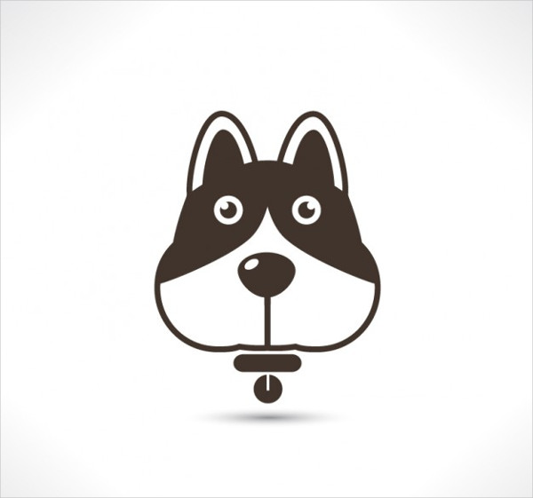 Cute Dog Icon Set Template