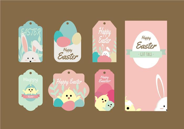 Cute Gift Vector Tag Collection