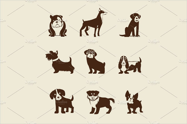 Dogs Infographic & Icon Set Of Dogs