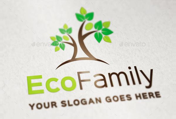 Eco Family Logo Template