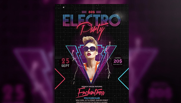 23 Electro Flyer Templates Adobe Photoshop Illustrator Downloads