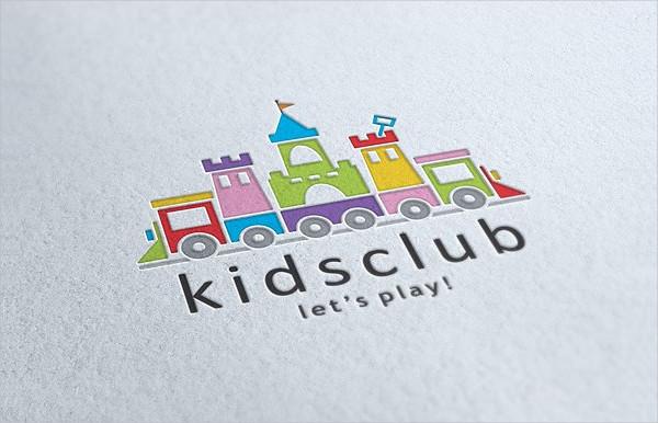 Elegant Kids Club Logo Template