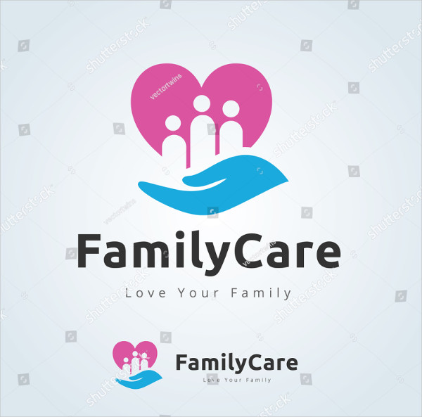 Family Care Vector Logo Design Template