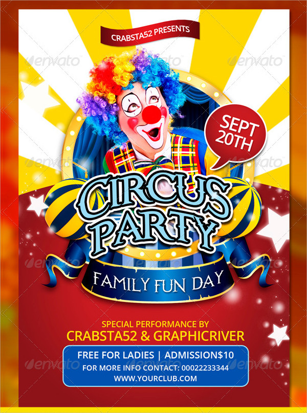 Circus Flyer Templates Free Premium PSD Vector EPS Downloads - Fun day flyer template free