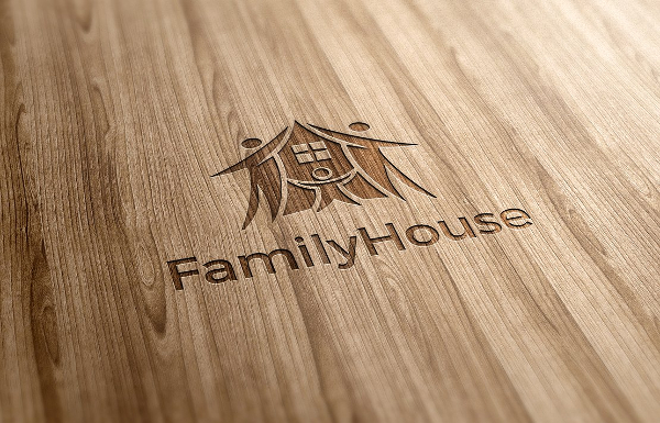 Family House Logo Template
