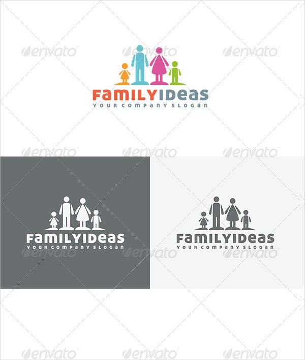 Family Ideas Logo Template