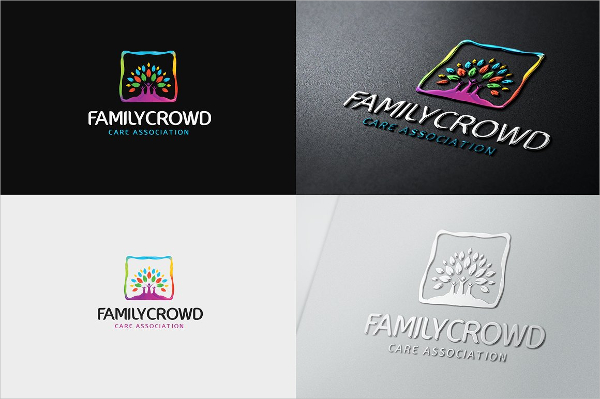 Family Vintage Logo Design Template