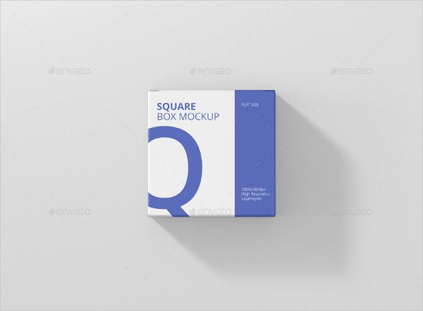 Flat Square Box Mockup Template