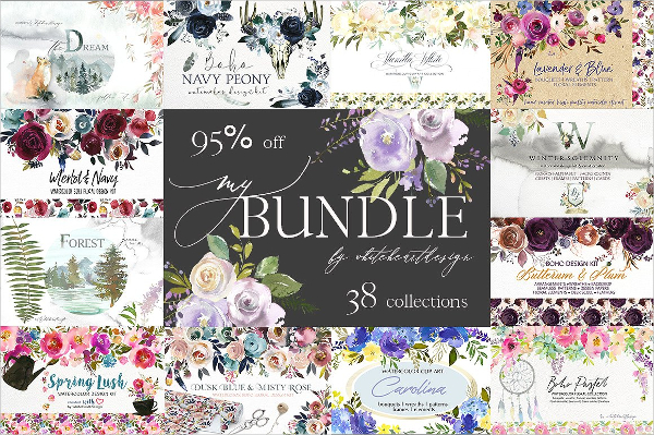 Floral Background Bundle