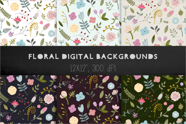 Floral Backgrounds And Patterns