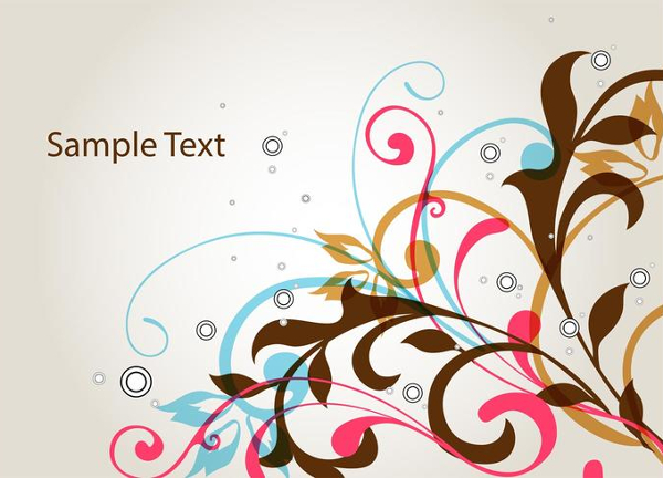 Floral Swirl Vector Background Free