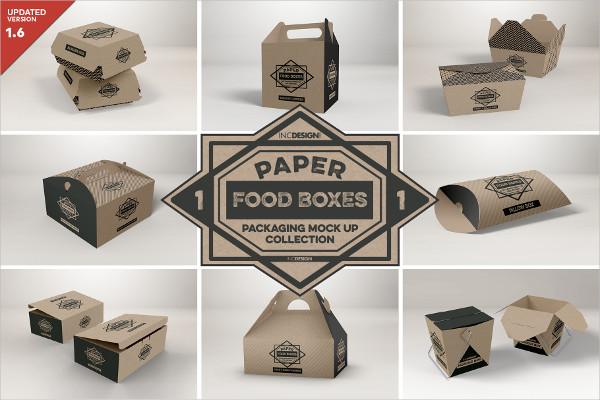 Food Box Packaging MockUps