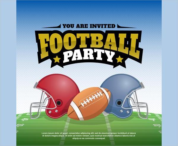 Football Party Vector Illustration Poster Design