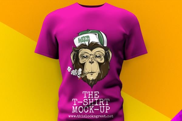 Free 3D T-shirt Mockup