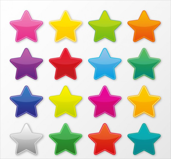 Free Colorful Star Icons