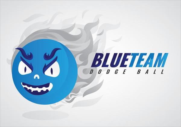 Free Dodgeball Team Vector Logo