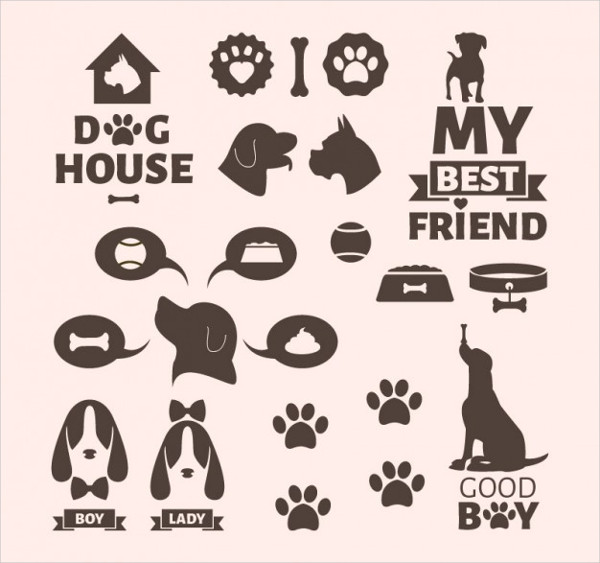 Free Download Dog Icon Template