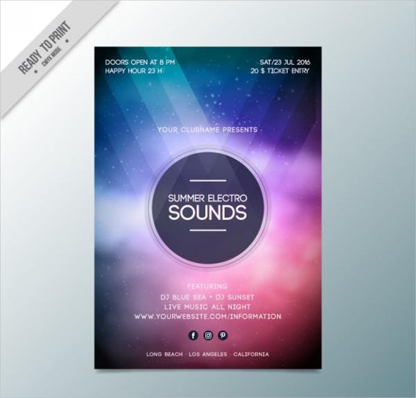 23 electro flyer templates adobe photoshop illustrator downloads